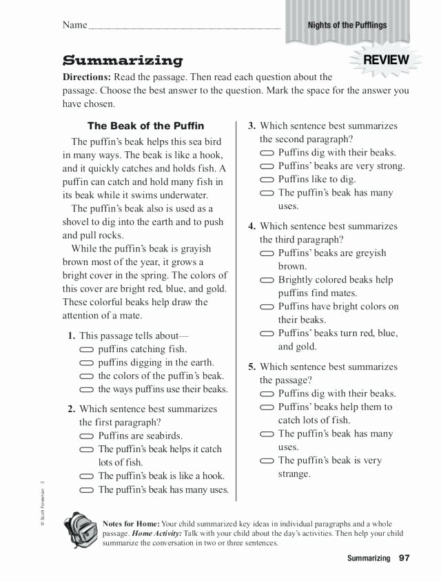 Summary Worksheets 2nd Grade Summarizing Night the Worksheet for Grade Worksheets 3rd Pdf