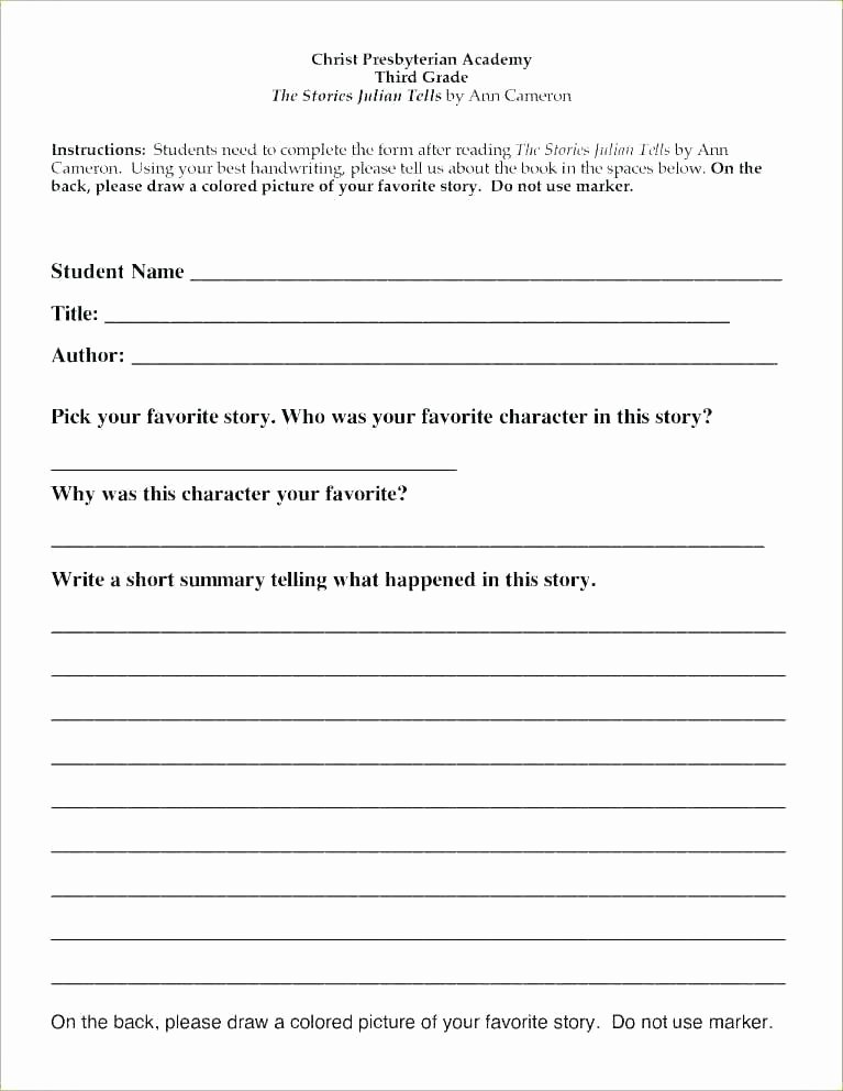 Summary Worksheets 5th Grade 3rd Grade Reading Summary Worksheets