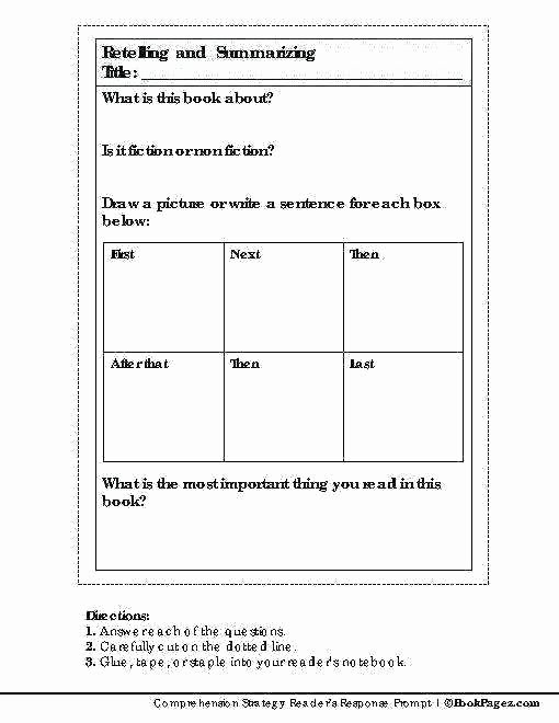 Summary Worksheets 5th Grade Free Printable Summarizing Worksheets Grade Story Retelling
