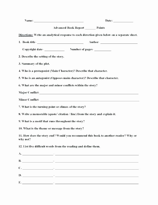 Summary Worksheets 5th Grade Multiple Choice Summary Worksheets