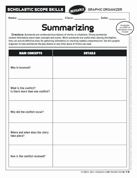Summary Worksheets Middle School Story Elements Worksheet Grade the Best Worksheets Image