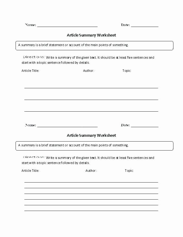 Summary Worksheets Middle School Summarizing Worksheets Grade Summarizing Worksheets 2nd