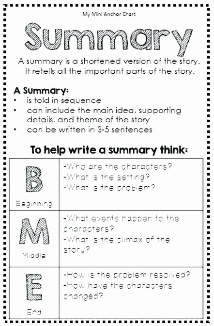 Summary Worksheets Middle School Summarizing Worksheets Middle School Reading Pdf Chapter