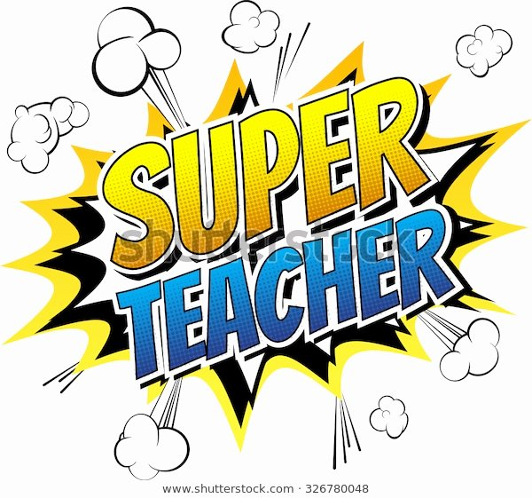Super Teacher Login Image Vectorielle De Stock De Super Teacher Ic Book Style