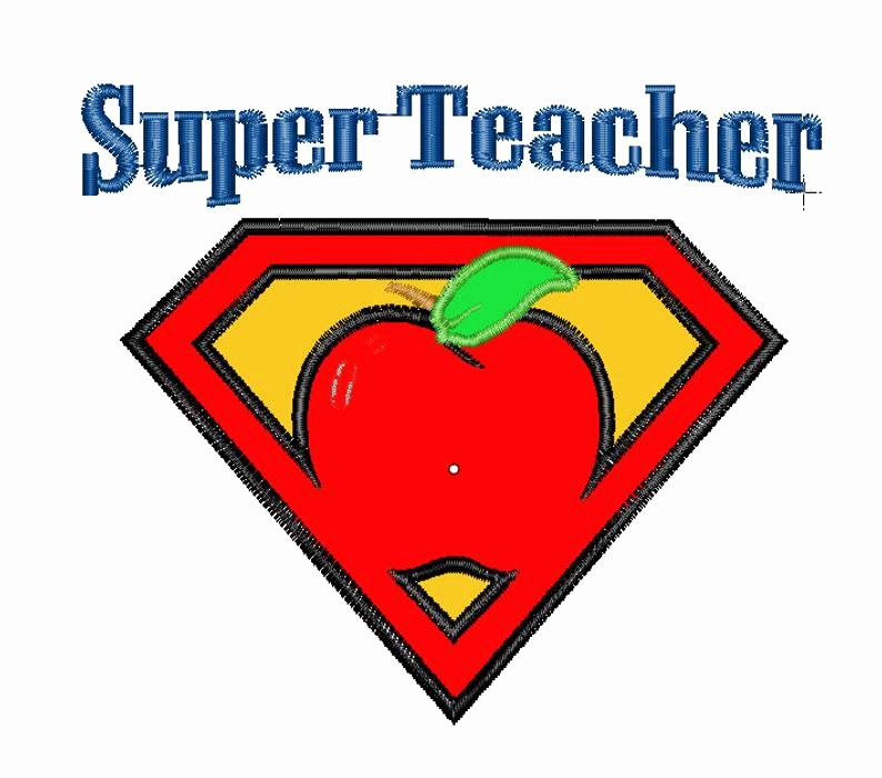 Super Teacher Login Super Teacher Apple Applique 4 Sizes Pattern File Machine Embroidery Design Instant Download