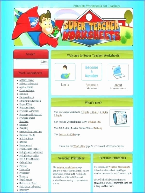 Super Teacher Login Super Teacher Worksheets Symmetry
