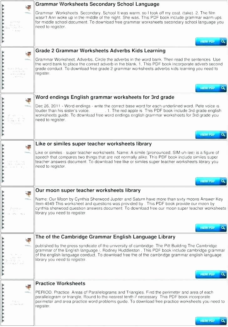 Super Teacher Worksheet Answers Lovely Teaching English Grammar Worksheets – Openlayers