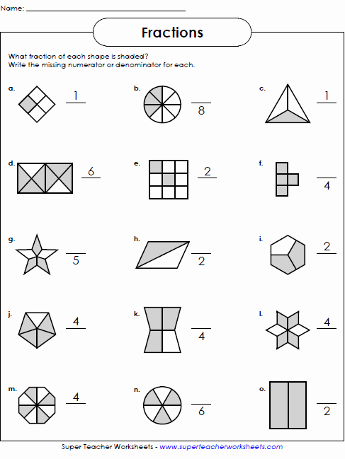 Super Teacher Worksheets Free Account Fractions Worksheets Math Worksheets