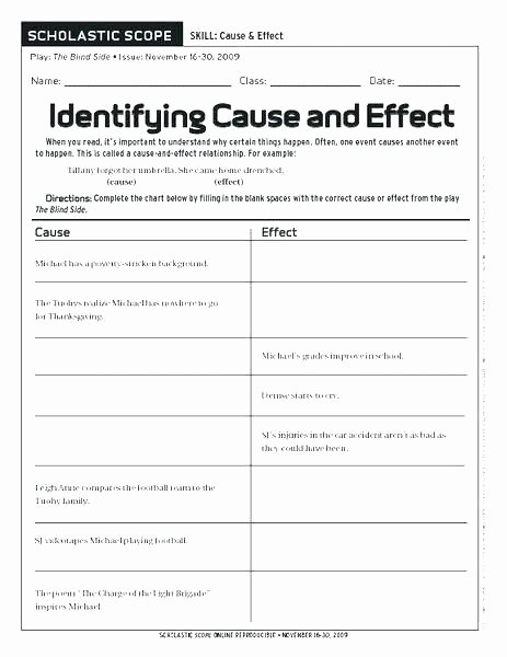 Super Teacher Worksheets Idioms Cause and Effect Worksheets with Answers Cause and Effect