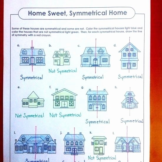 Super Teacher Worksheets Line Plots Symmetrical Houses Super Teacher Worksheets Math Symmetry