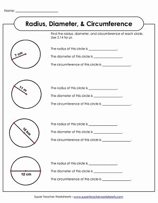 Super Teacher Worksheets Password 2016 Awesome Radius & Diameter Worksheets Circumference & area Worksheets