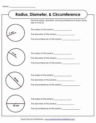 radius diameter circumference