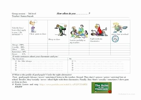 Super Teacher Worksheets Username Password Frequency Adverbs and School Rules 1 Super Teacher