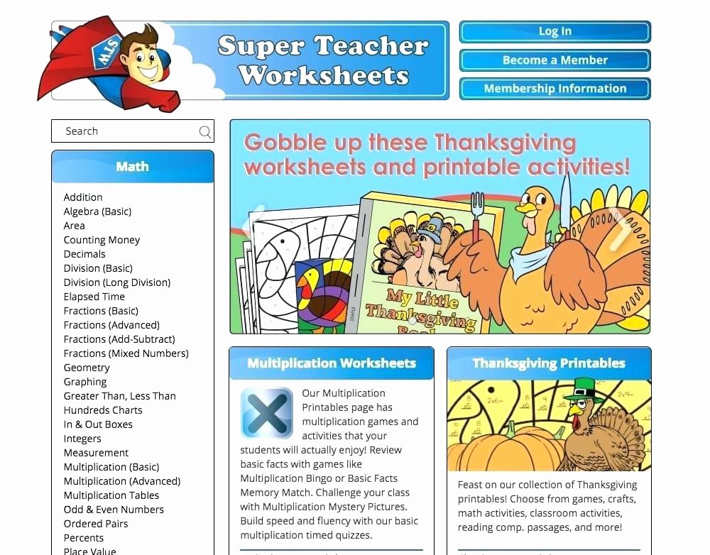 Super Teachers Worksheets Login Super Worksheets