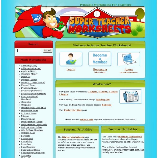 Super Teachers Worksheets Login Superteacher Worksheet Redwoodsmedia