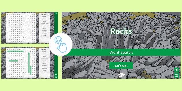 Superhero Word Search Printable Rocks Interactive Word Search Ks1 Ks2 Twinkl