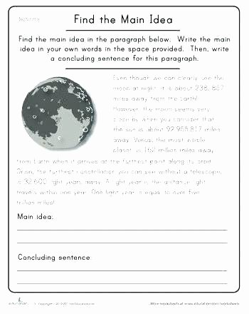 Supporting Details Worksheet Easy Main Idea Worksheets