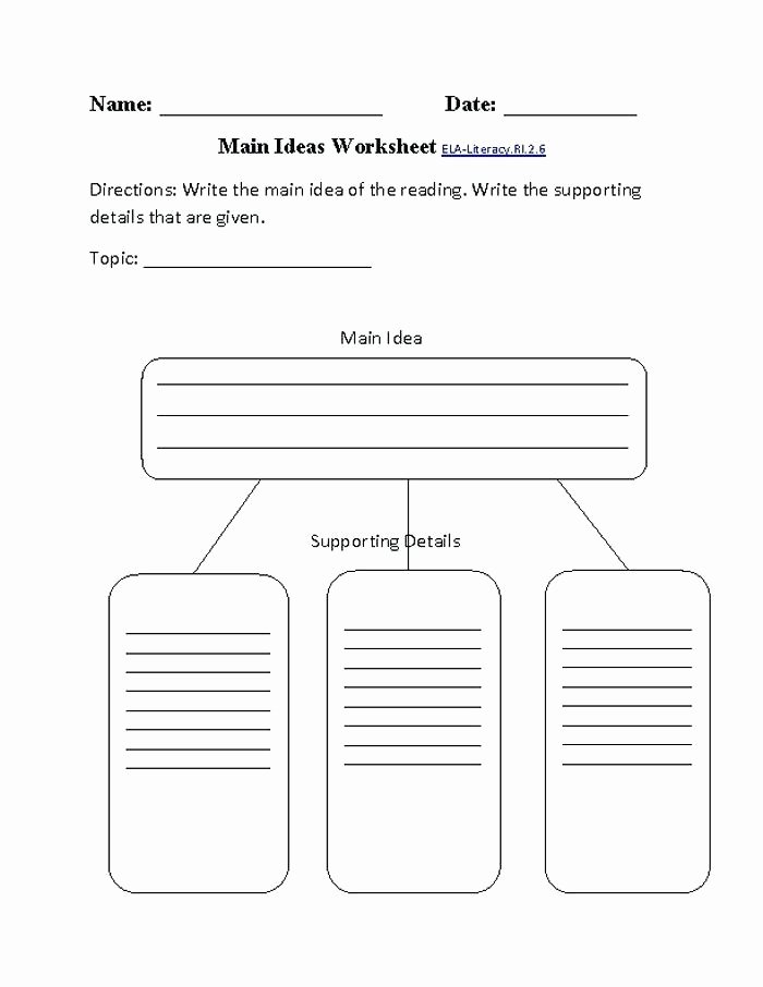 Supporting Details Worksheet Grade Worksheets Pound Words Grade Reading Writing