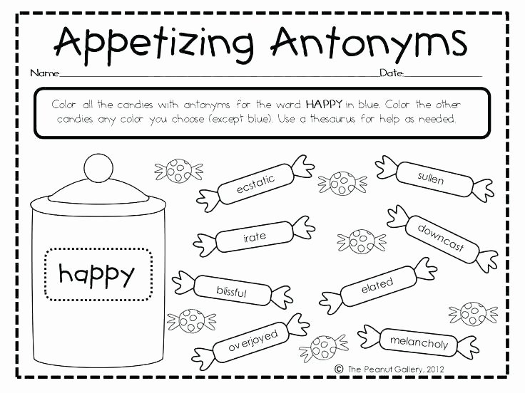 Synonyms Worksheet First Grade Synonyms for Second Grade Worksheets and Antonyms Worksheet