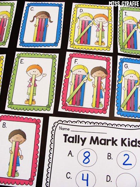 Tally Mark Worksheets for Kindergarten Miss Giraffe S Class September 2016
