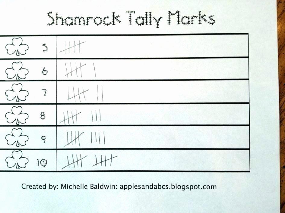 Tally Mark Worksheets for Kindergarten Tally Worksheets
