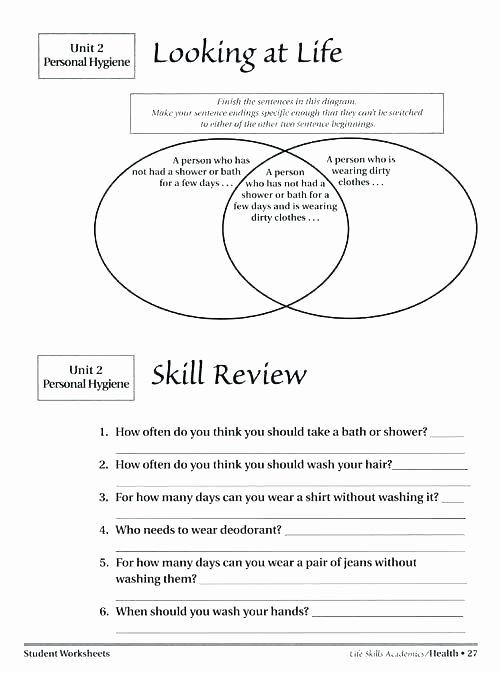 Teaching Independent Living Skills Worksheets Independent Worksheets for Kindergarten