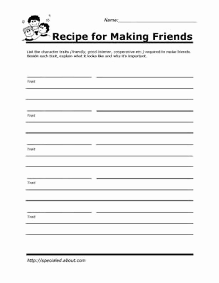 Teaching social Skills Worksheets Printable Worksheets for Kids to Help Build their social