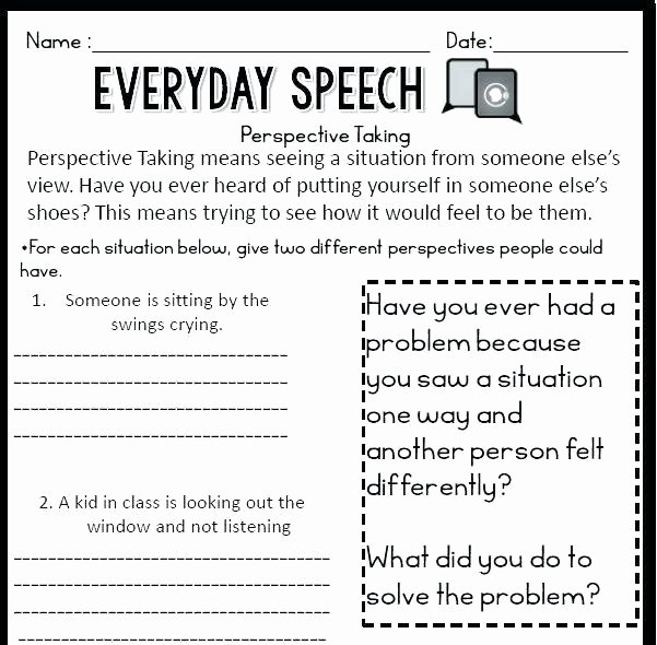Teaching social Skills Worksheets social Skills Worksheets for Autism Free