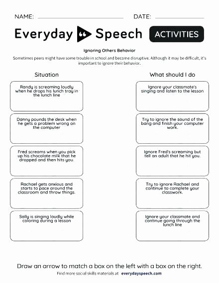 Teamwork Worksheets for Students Best Of Free Behavior Worksheets