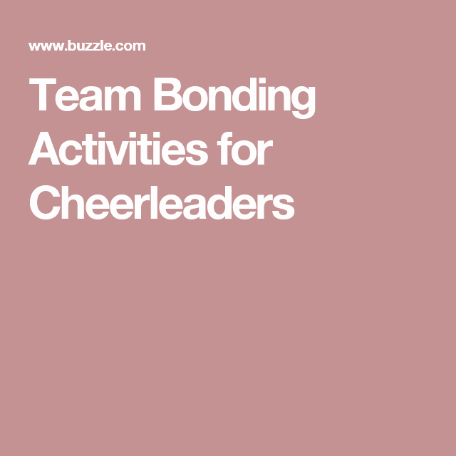 Teamwork Worksheets for Students Unique 5 Super Exciting Team Bonding Activities for Cheerleaders