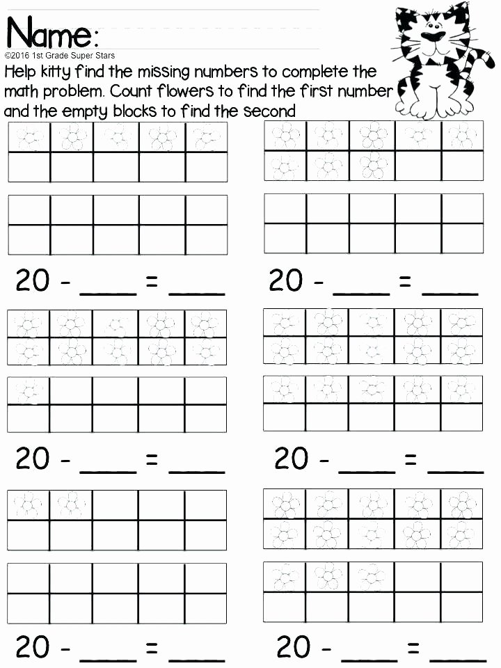 Ten Frame Addition Worksheets Counting to 20 Worksheets
