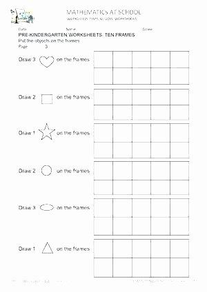 Ten Frame Addition Worksheets Free Ten Frame Show the Number Worksheet Printable