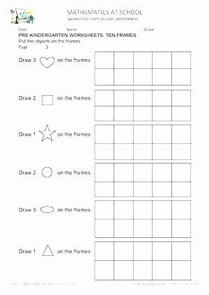 Ten Frame Addition Worksheets K Math Worksheets Multiplication 4s Kids Size Preschool Free