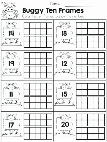 Ten Frame Addition Worksheets Make Addition Worksheets