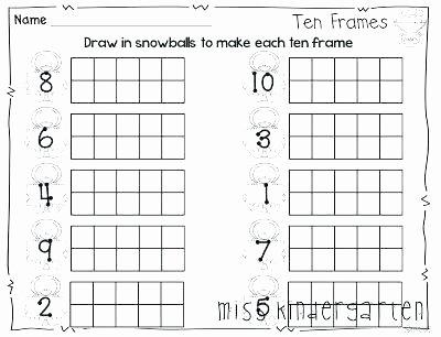 Ten Frame Addition Worksheets Ten Frame Math Worksheets Free Math Addition with Frames