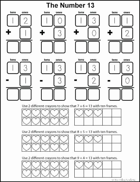 Ten Frame Worksheets First Grade Awesome Number Bonds Worksheets Along with to Free Math 1st Grade