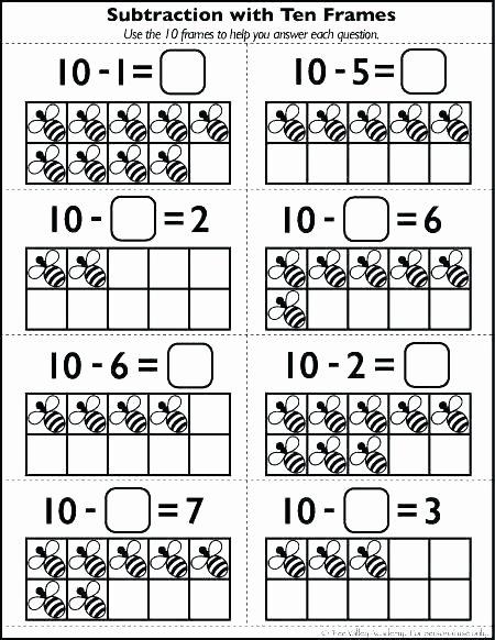 Ten Frame Worksheets First Grade Beautiful 10 Frame Worksheets Free Addition Ten for Kindergarten Math