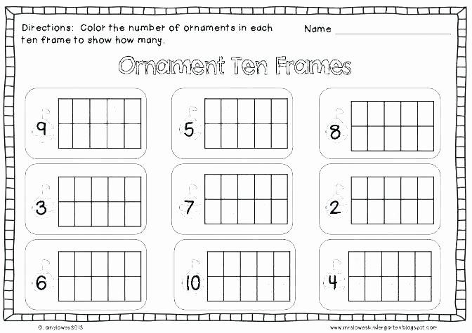 Ten Frame Worksheets First Grade Beautiful Ten Frame Math Worksheets Free Math Addition with Frames