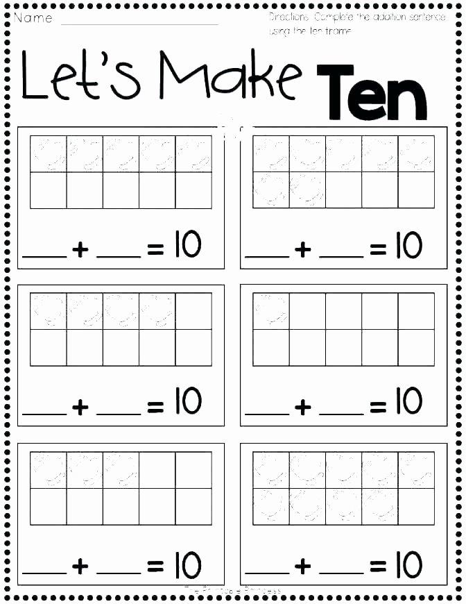 Ten Frame Worksheets First Grade Best Of Grade 1 Addition – Healthyregardshayley