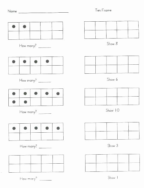 Ten Frame Worksheets First Grade Elegant Place Value Teen Numbers to Worksheets Learn How Many Tens