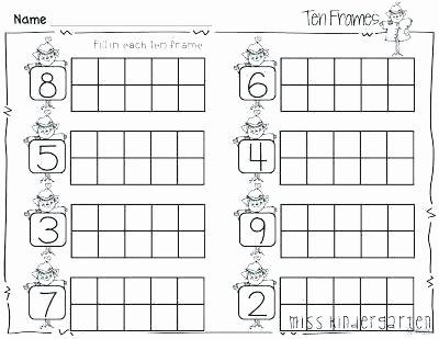 ten frame worksheets for kindergarten free shamrock frames luxury best miss ideas on additio