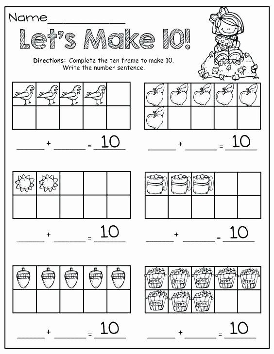 Ten Frame Worksheets First Grade New Ten Frame Worksheets for First Grade Free Shamrock Ten