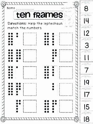 Ten Frame Worksheets for Kindergarten 10 Frame Worksheets Free Using Ten Frames the Power