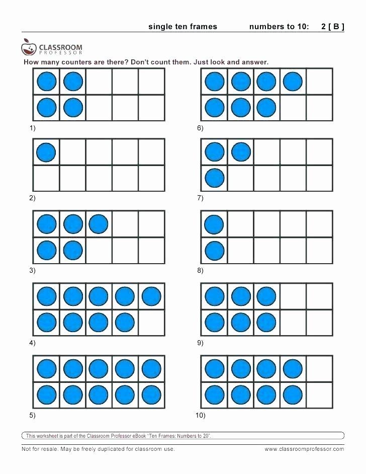 Ten Frame Worksheets for Kindergarten 10 Frame Worksheets Free What is A Ten Superhero themed
