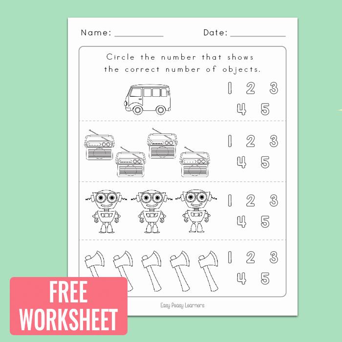 Ten Frame Worksheets for Kindergarten Counting to 5 Worksheets for Kindergarten Easy Peasy Learners