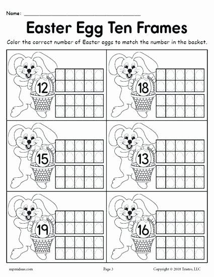 Ten Frame Worksheets for Kindergarten Free Printable Numbers 1 20 Worksheets Free Printable Egg