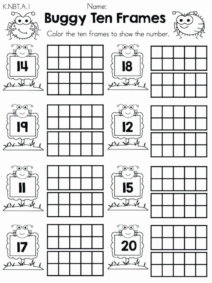 Ten Frame Worksheets for Kindergarten Mon Core Kindergarten Math Worksheets