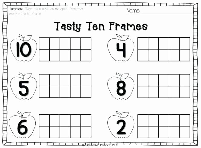 Ten Frame Worksheets for Kindergarten Teen Numbers with Ten Frames Worksheets Freebie by Frame 11 20