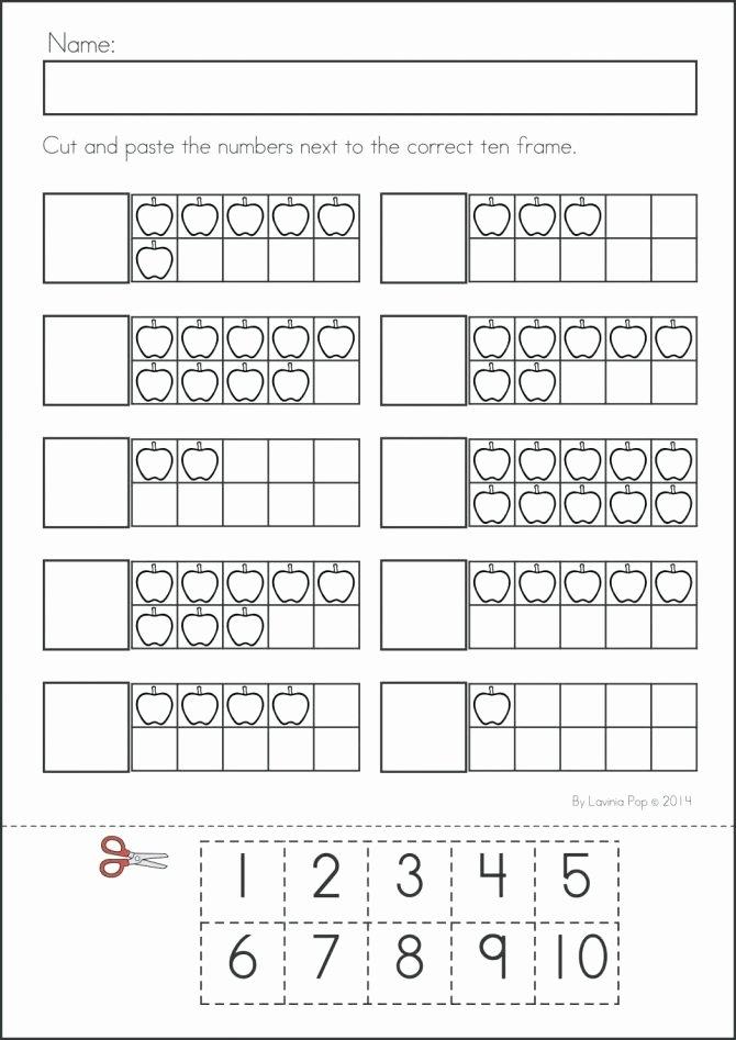Ten Frame Worksheets for Kindergarten Tens Frames Worksheets Kindergarten Ten Frame Free Math for