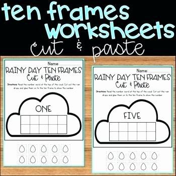 Ten Frame Worksheets Kindergarten Number Sense Worksheets 1 Ten Frame Counting Cut Paste